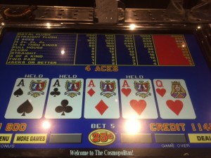 Everything came up Aces during a December weekend in Vegas